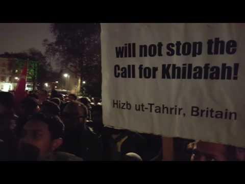 Demonstration for Syria Aleppo - Moazzam Begg - Outside Syrian Embassy London - 13/12/2016, 21:50