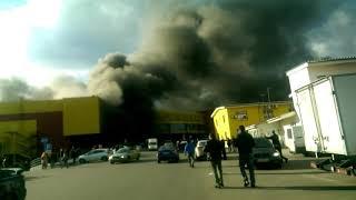 Синдика горит (рынок сгорел)