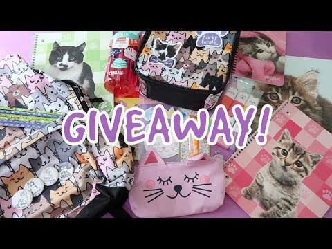 Back To School/Work/Anywhere GIVEAWAY! Win FREE Cat Themed Stuff!