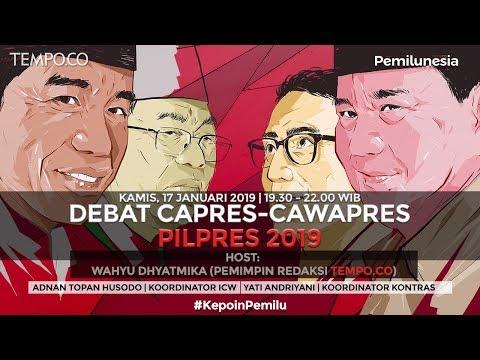 LIVE STREAMING: DEBAT CAPRES-CAWAPRES PILPRES 2019