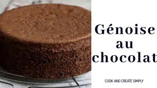 الشوكولاته كعكة إسفنجية لينة جدا  || كوك وإنشاء ببساطة
