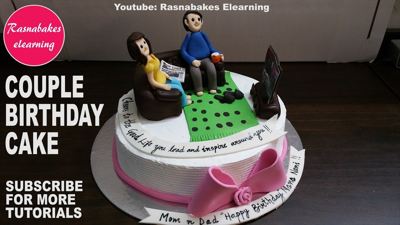 Cute Couple Birthday Cake For Mom DadGift Ideas For Men Women