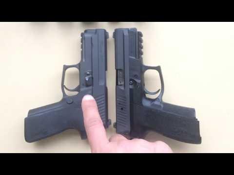 Size Compare Sig Sauer p224 vs p229 vs SP2022 vs p226 vs p226 Dark Elite