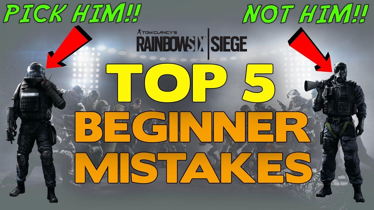 Rainbow Six Siege Tips    Top 5 Beginner Mistakes - YouTube