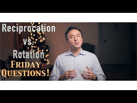 Reciprocation vs. Rotation Which motion?! Friday Questions!