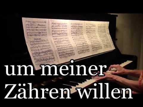 Erbarme Dich, Grada Gootjes, UNIQUE VIDEO karaoke with lyrics-live, J.S.Bach