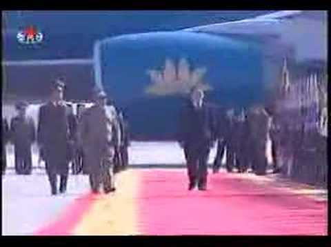 Kim Jong Il Greets Nong Duc Manh Travel Video