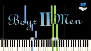 Boys ii men - The End Of The Road - Synthesia Piano Tutorial