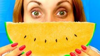 СТРАННЫЕ сладости и ЖЕЛТЫЙ АРБУЗ! Развлекательноe видео шоу для детей kids // Мы семья