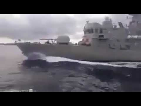 Greek Navy Patrol On Imia , Intercept & Collide with Turkish Coast Guard 17/1/2018