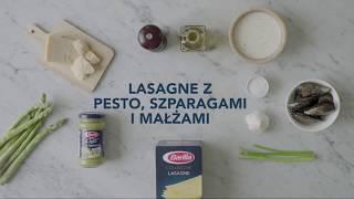 Lasagne z pesto, szparagami i małżami