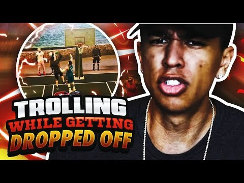 TROLLING WHILE GETTING DROPPED OFF IN SUNSET! NBA 2K17 MyPark Gameplay