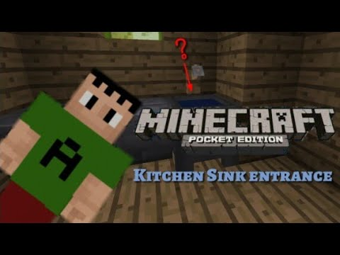 kitchen sink minecraft kitchen sink secret entrance minecraft pocket edition 2787