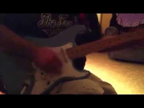 Eddie jamming at the house