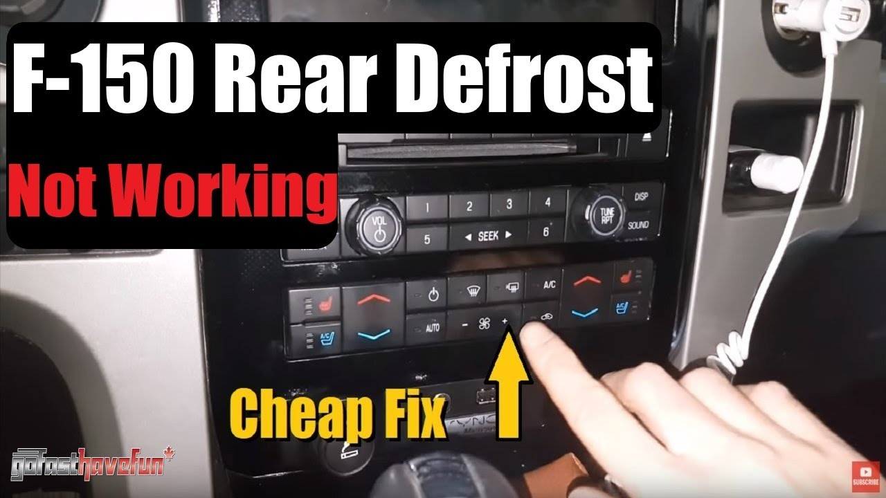 2009 2014 Ford F 150 Rear Defogger And Heated Mirrors Not Working 350 Dash Lights Wiring Diagram F150 Reardefogger