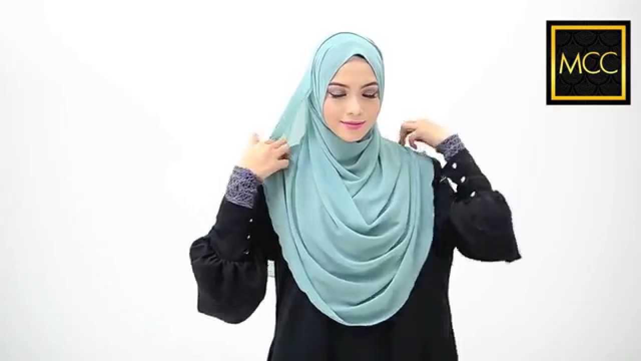 3 Easy Style for Heyna Halfmoon Shawl : Tutorial by MuslimahClothing.com