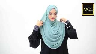 3 Easy Style for Heyna Halfmoon Shawl : Tutorial by MuslimahClothing.com<