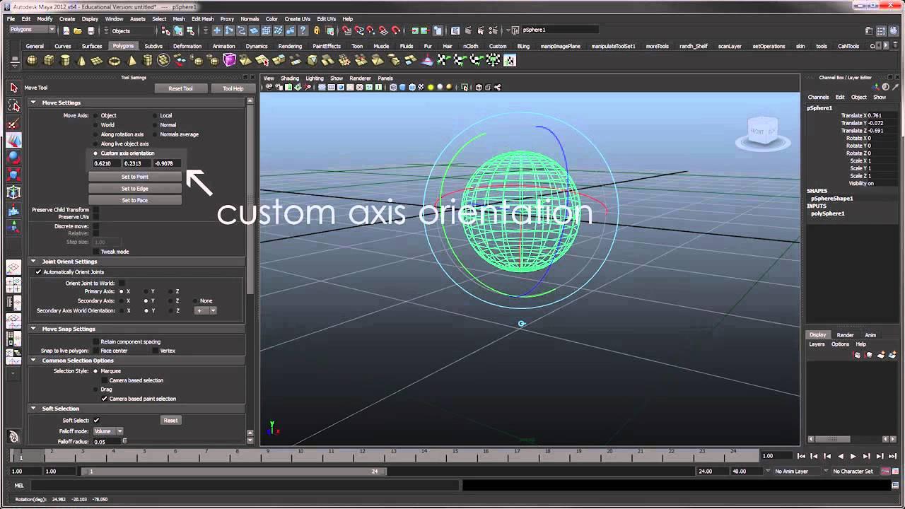 Pivot Problems in Autodesk Maya 2012