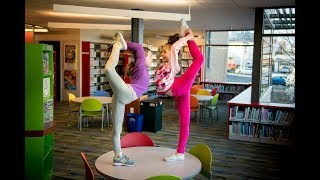 my daughter takes the 10 minute photo challenge in a public library with elliana walmsley
