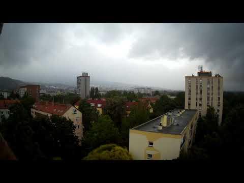 Daily Timelapse: Fog and fast Clouds and the Evening, Pécs, Hungary - Köd és érdekes Fényhatások