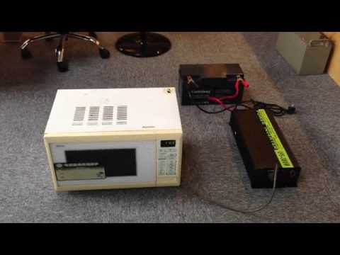 Hanfong THCA3000W Power Inverter drive microwave operation video How To Install A Power Inverter In