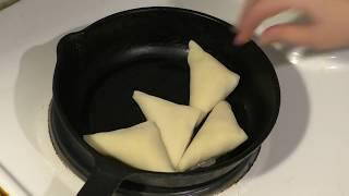 блины с мясом/Бендерики/Жарим на сковороде