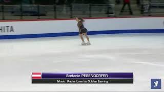 Stefanie Pesendorfer Короткая программа Чемпионат мира среди юниоров 2020