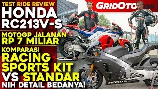 Honda RC213V-S Racing Sports Kit VS Standar l Test Ride Review l GridOto