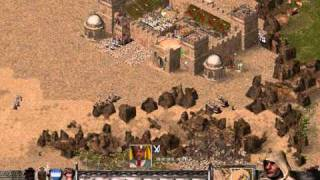 Stronghold Crusader 33, Misty River (taking over the map, 1/2)