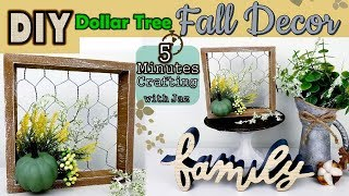 5 MINUTES CRAFTING No. 5 | FARMHOUSE FALL DECOR | DOLLAR TREE DIY
