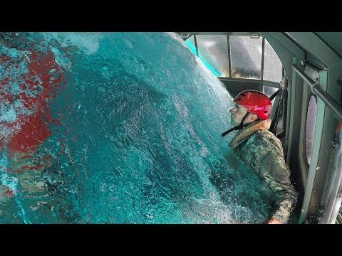 STRAPPED INTO A SINKING HELICOPTER (with U.S. Marines) - Sma