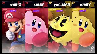 Super Smash Bros Ultimate Amiibo Fights Request #675 Mario & Kirby vs Pac Man Keeby
