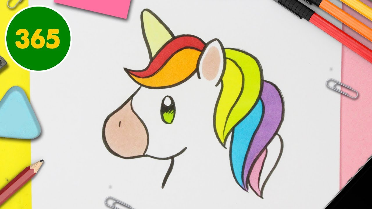 Comment Dessiner Un Licorne Kawaii Facile Youtube