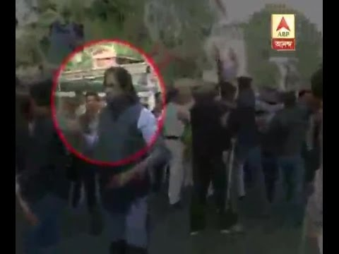 RSS workers heckled media also