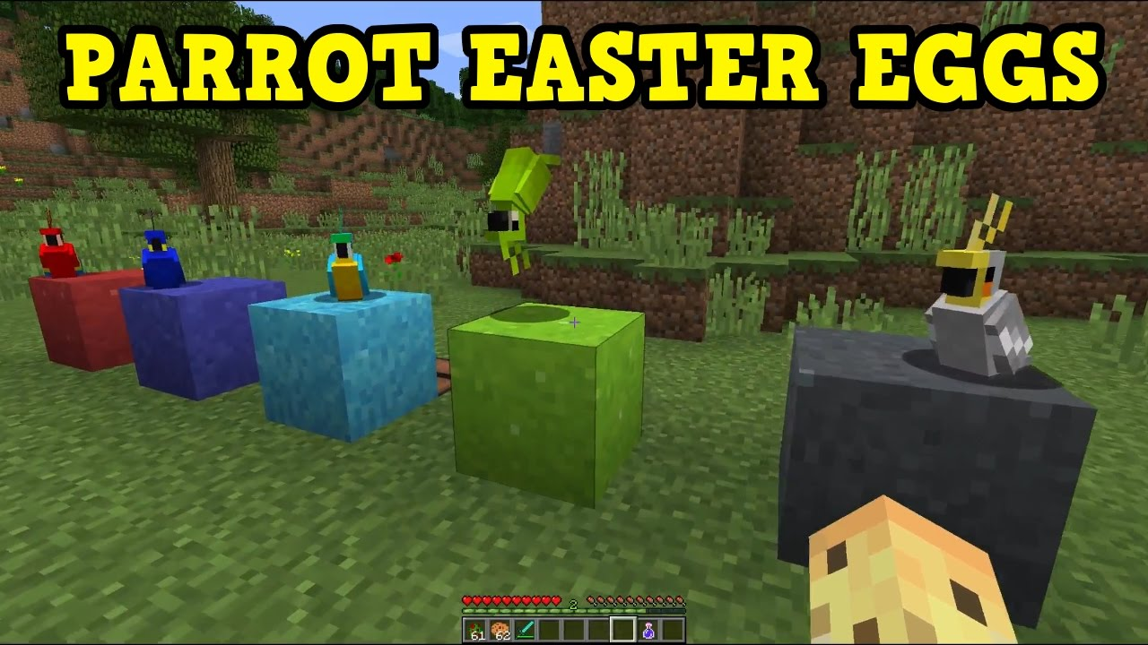 MINECRAFT - 5 BEST PARROT EASTER EGGS