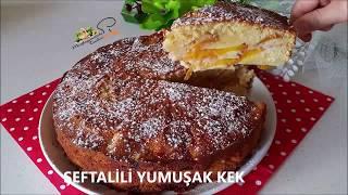 Şeftalili Yumuşak Kek l Mutfağımdaki Tadlar l Nefis tarifler