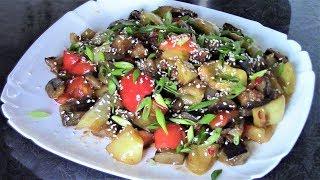 Безумно вкусные баклажаны с перцем, приготовьте, и эта закуска станет коронной на Вашем столе!