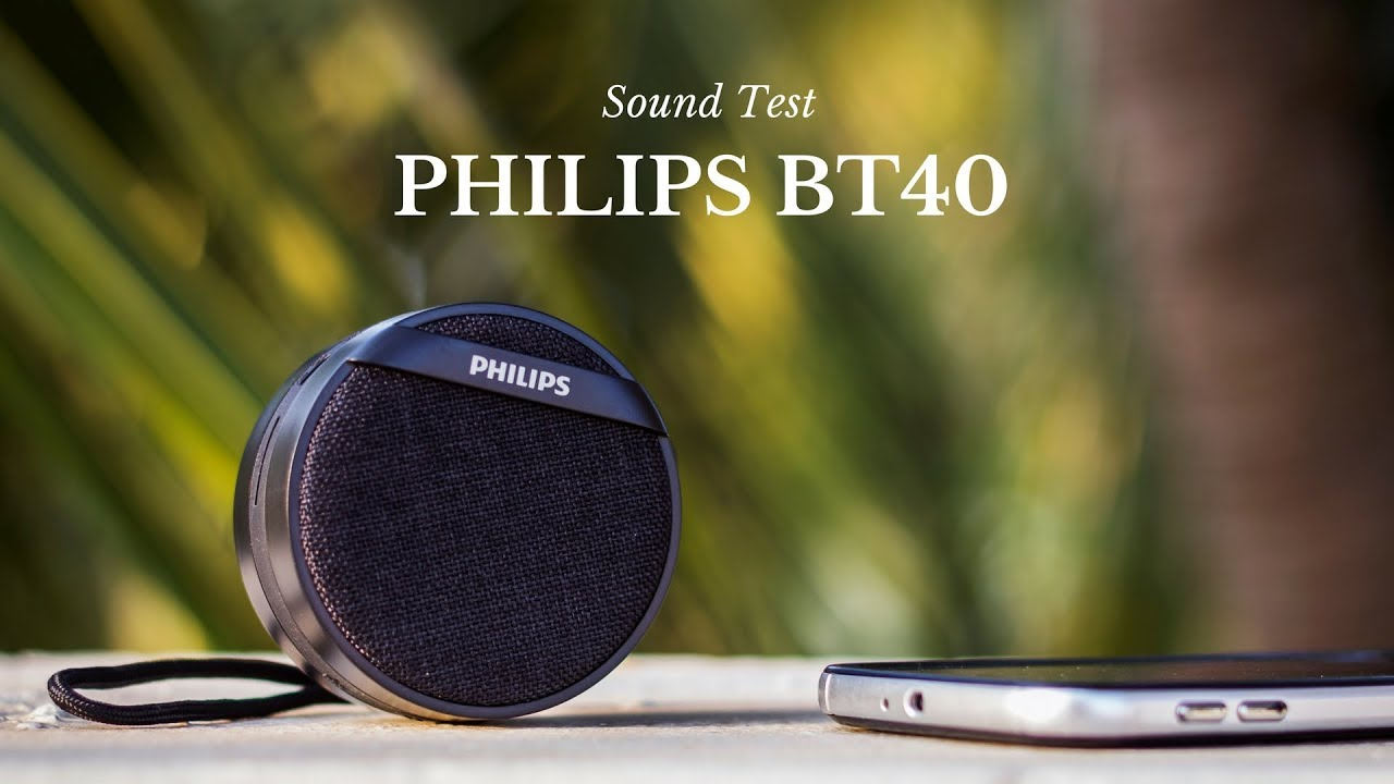 philips bt40 bluetooth speaker sound test youtube. Black Bedroom Furniture Sets. Home Design Ideas