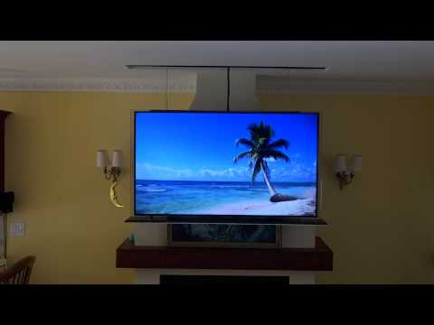Drop down swivel motorized tv lift installation doovi for Motorized tv lift with swivel