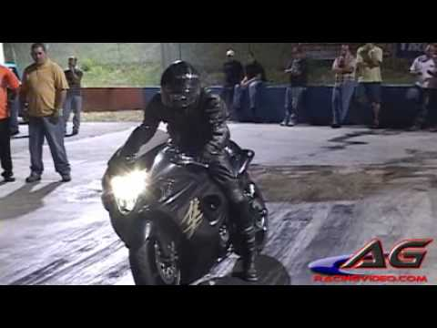 2008 BLACK HAYABUSA PROJECT 2ND RUN 9.16@148.72 MPH RUN