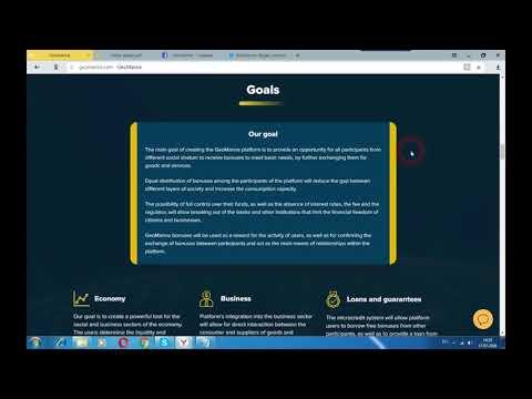 блокчейн GeoManna -  платформа для распределения бонусов социальной активности