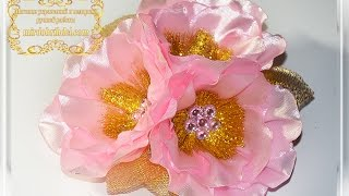 МАЛЬВЫ канзаши МК | Цветы из лент