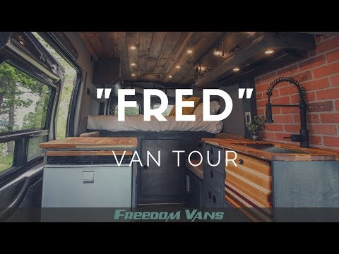 Lifted Ford Transit Van Conversion with Office TOUR