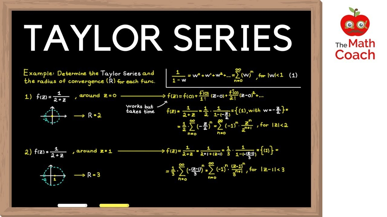Taylor Series | Solving Taylor Series with Geometric Series | Complex  Analysis #8