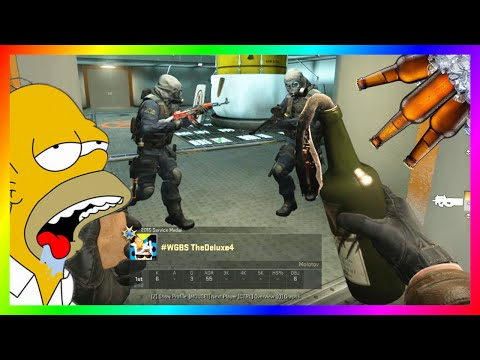 CS:GO Deluxe Has A Drinking Problem (CS:GO Competitive Funny Moments With The Crew)