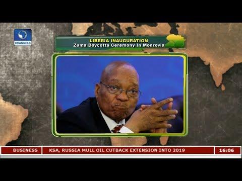 Zuma Boycotts Liberia Presidential Inauguration Ceremony In Monrovia  Network Africa 