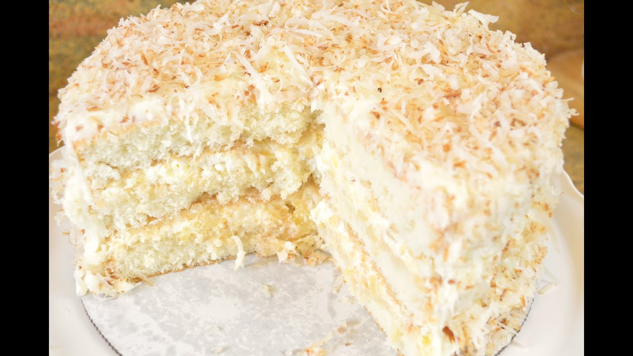 Southern Coconut Pineapple Cake Recipe- Fluffy Coconut
