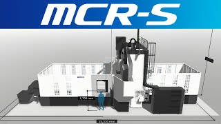 3d machine view/double-column machining center mcr-s【okuma corporation japan】