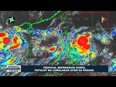 NEWS BREAK: Tropical depression Gorio, patuloy na lumalakas ayon sa PAGASA