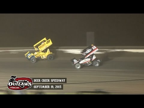 Highlights: World of Outlaws Sprint Cars Deer Creek Speedway September 19th, 2015